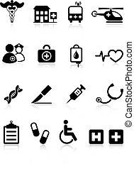 Original vector illustration: medical hospital internet icon collection