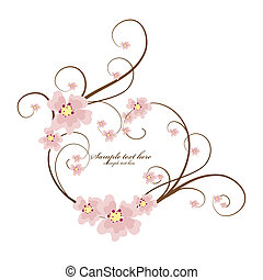 Ornamental frame heart with place for your text