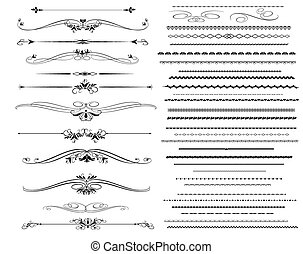 Ornamental rule lines in different
