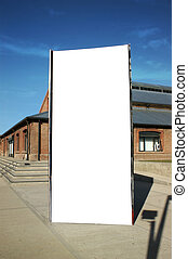 Outdoor street blank billboard