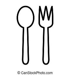 Outline Spoon Fork Icon -msidiqf