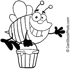 Outlined Bee