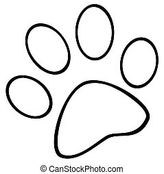 Outlined Paw Print
