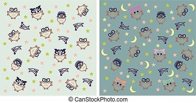Owl night background