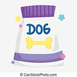 package food dog domestic cartoon animal, pets