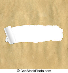Package Paper Torn With Gradient Mesh, Vector Illustration