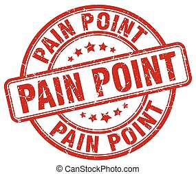 pain point red grunge stamp