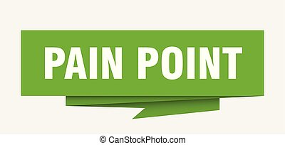 pain point sign. pain point paper origami speech bubble. pain point tag. pain point banner