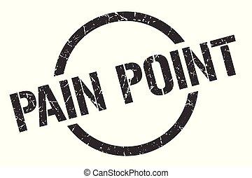 pain point black round stamp