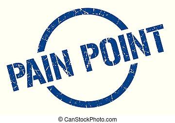 pain point blue round stamp