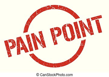 pain point red round stamp