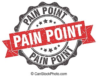 pain point stamp. sign. seal