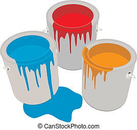 Paint Cans. Vector illustration for you desifn