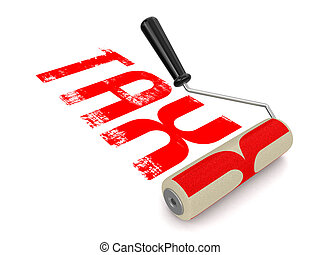Paint roller with Tax