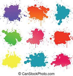 Paint splat isolated on white
