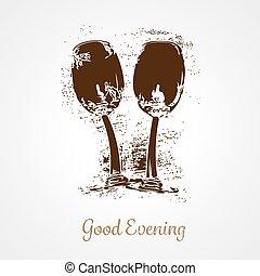 Pair of wine glasses