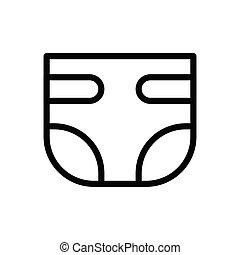 pamper  thin line icon