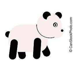Panda flat illustration