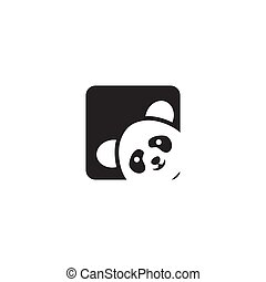 Panda icon logo design vector template