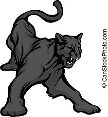 Panther Mascot Body Vector Image