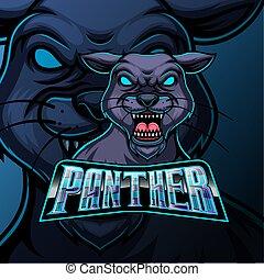 Panther mascot sports e sport logo design
