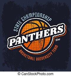Panthers basketball emblem for sport team