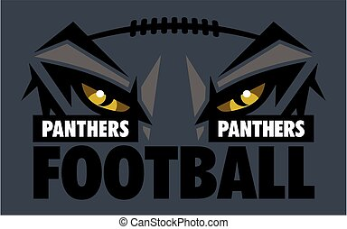panthers football team design with mascot eye black for school, college or league