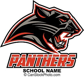 panthers mascot head team design for school, college or league