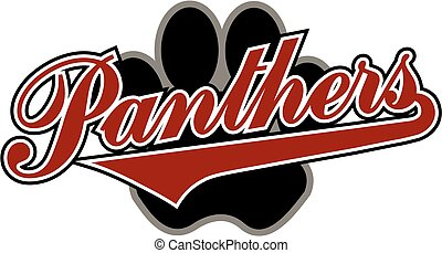 panthers with paw print