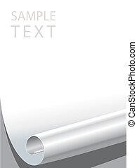Vector file of blank paper corner bended.