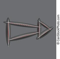 Paper cut arrow