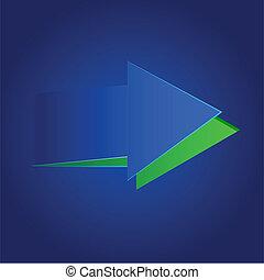 Paper cut out Arrow