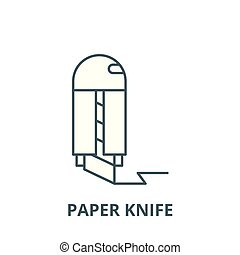 Paper knife vector line icon, linear concept, outline sign, symbol