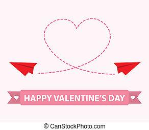 Paper plane of love