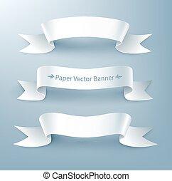Paper ribbon banner.