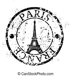 Vector illustration of famous capital's stamp