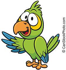 Vector illustration of cartoon parrot
