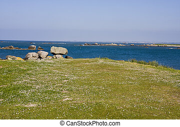 part of coastline in brittany