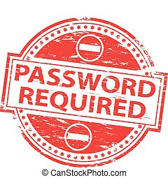 Password Required Stamp