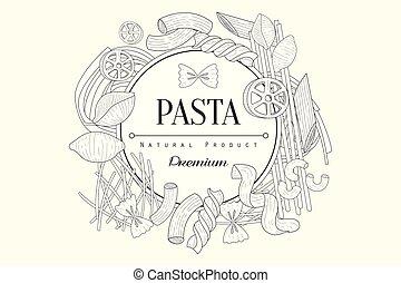 Pasta Collection Vintage Sketch