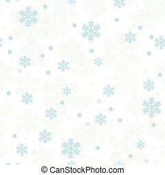 Pastel blue Christmas snowflakes seamless pattern