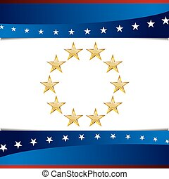 Patriotic Star Background Icon