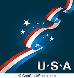 Patriotic USA Background Icon