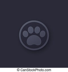 paw icon, vector logo for app