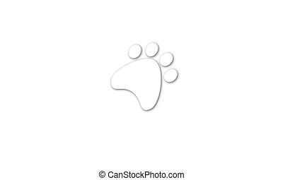 Paw print. Animal Footprint