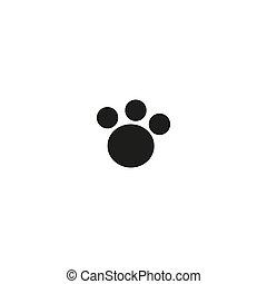 Paw print. Animal paw. Footprint, footstep. Vector illustration