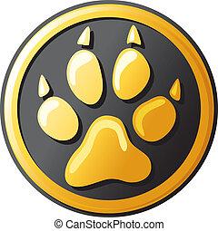 paw print button (icon)