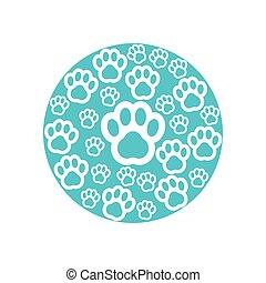 Paw print icon design template vector