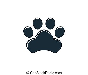 Paw Print Icon Vector Logo Template Illustration Design