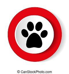 paw print vector icon